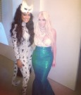 lala anthony and kim kardashian halloween