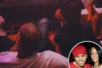 Rihanna And Chris Brown Spotted Cuddling At Jay-Z Concert [Photo]