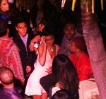 rihanna and chris brown party 1