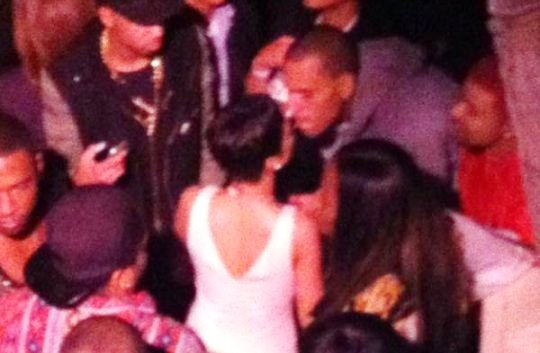 rihanna and chris brown party