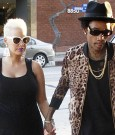 Pregnant Amber Rose and Wiz Khalifa date night