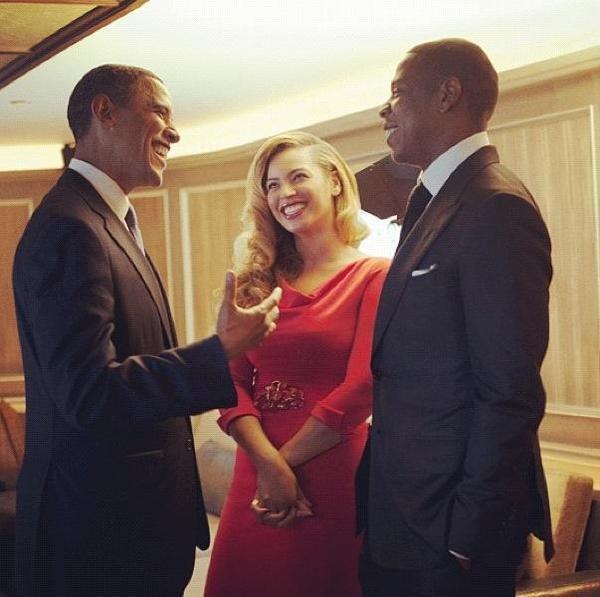 President obama beyonce jay-z
