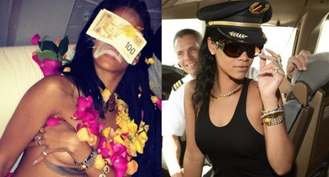 Rihanna Shows Some Skin, Gets Wild In Weed Smoking Session [Photo]