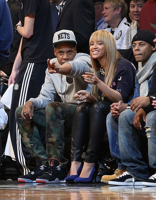 jay-z and beyonce nets game