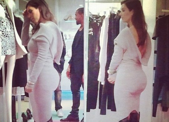 kanye kim kardashian booty