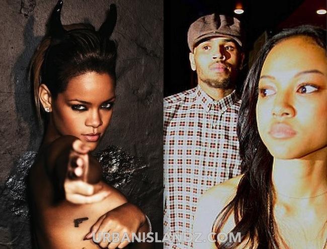 Rihanna Chris Brown Karrueche pic 2013