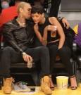 Rihanna Chris Brown lakers game