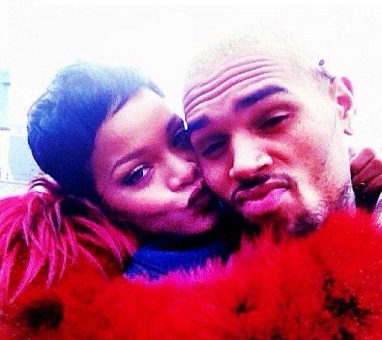 Rihanna and Chris Brown 2013 pic