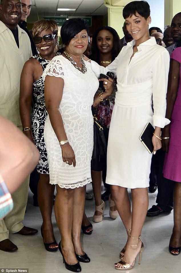 Rihanna and mother monica fenty