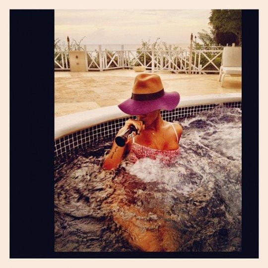 Rihanna barbados pool