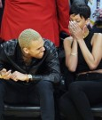 Rihanna chris brown lakers game 2