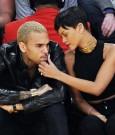 Rihanna chris brown lakers game 2012