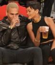 Rihanna chris brown lakers game 4