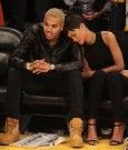 Rihanna chris brown lakers game 6