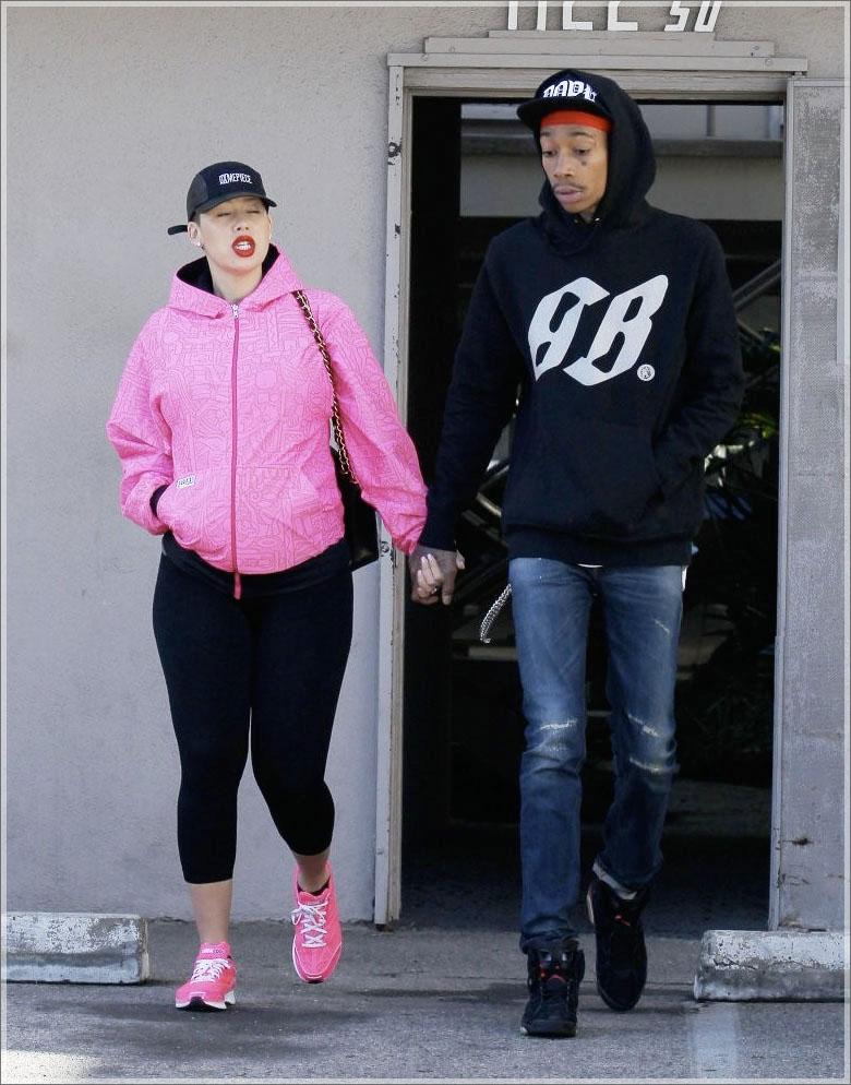Wiz Khalifa Amber Rose Pregnant Photo