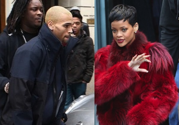 chris brown and rihanna in paris