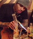 chris brown smoking pic 2013