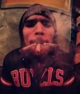 chris brown smoking weed