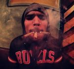 chris brown smoking weed