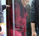 Lady In Red Rihanna Leaves The Studio