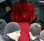 rihanna red outfit