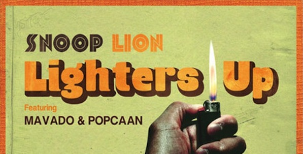 snoop lion lighters up artwork