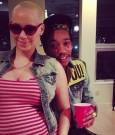 Amber Rose baby bump Wiz Khalifa pic