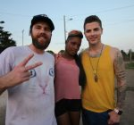 Director Matthew Tiana and Jesse Giddings