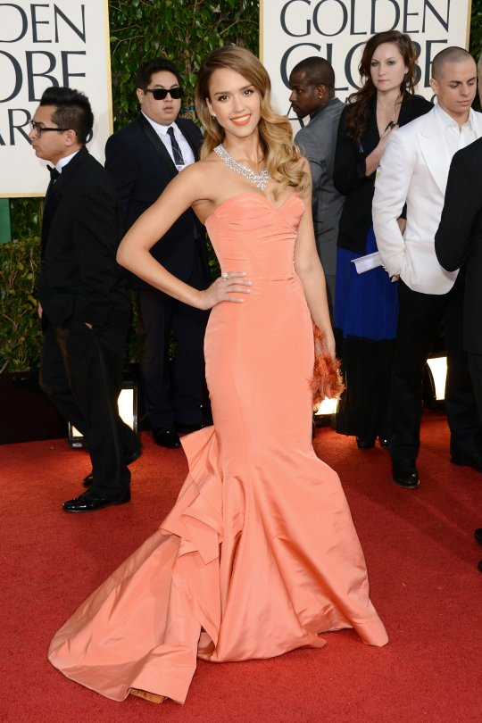 Jessica Alba Golden Globe 2013