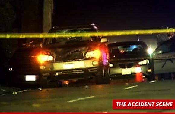 Justin Bieber accident scene