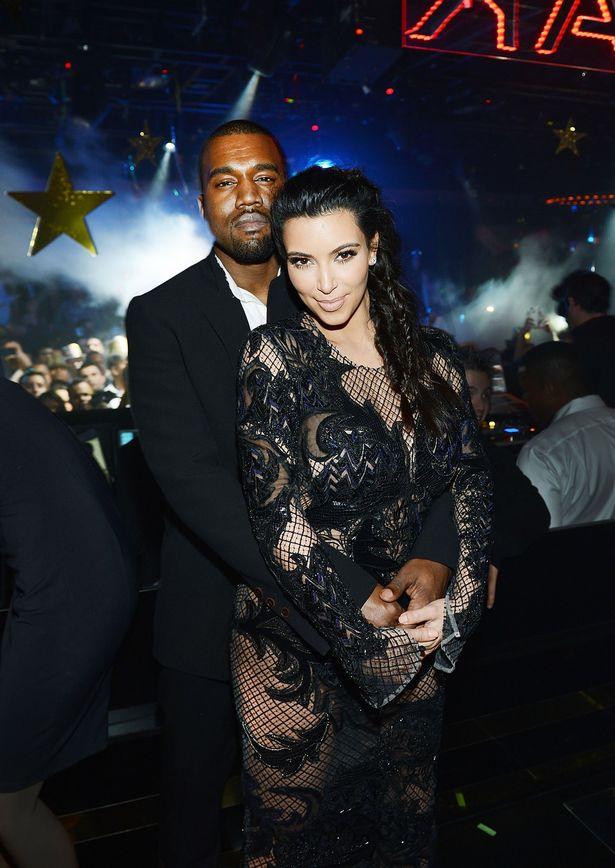 Kanye West and Kim Kardashian ny 2013