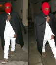 Kanye West ski mask outfit