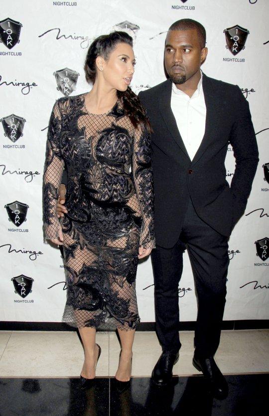 Kim Kardashian and Kanye West 2013