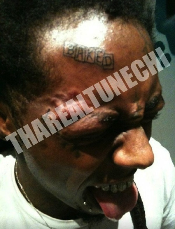 Lil Wayne Baked Face Tattoo