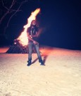 Mavado on set lighters up video shoot