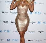 Nicki Minaj Gold Dress 1