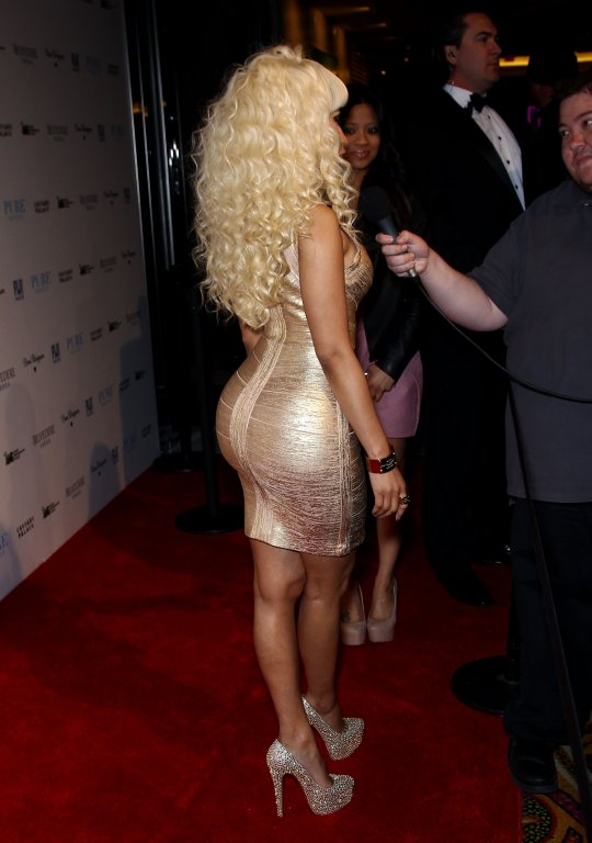 Nicki Minaj Gold Dress 3