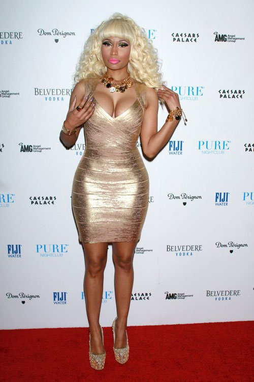Nicki Minaj Gold Dress 4
