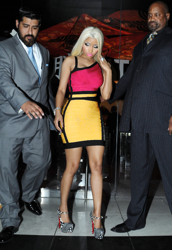 Nicki Minaj out for dinner 2013