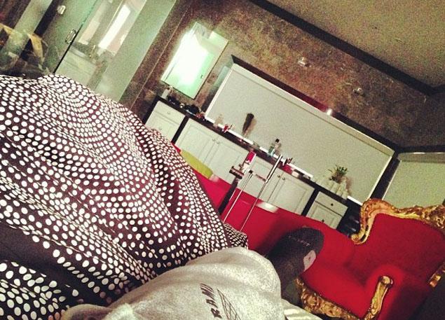 Rihanna Breezy bed