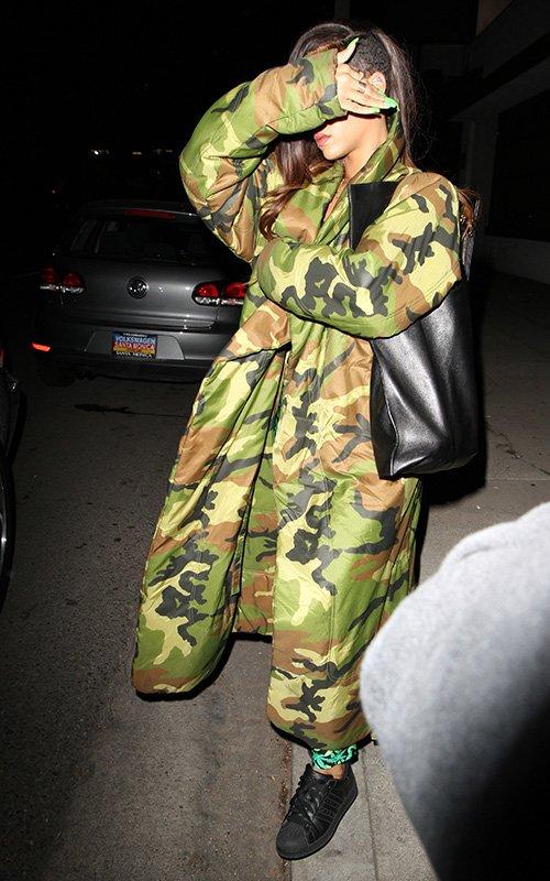 Rihanna camouflage jacket