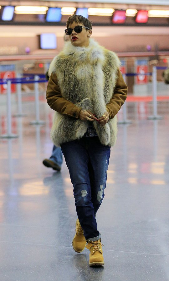 Rihanna fur fashion