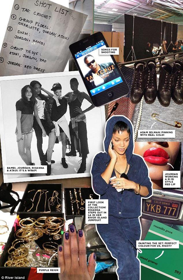 Rihanna river island fashion 2013