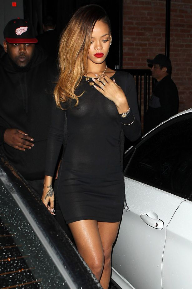 Rihanna see thru dress 2013