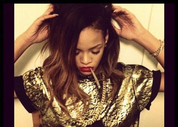Rihanna smoking ganja
