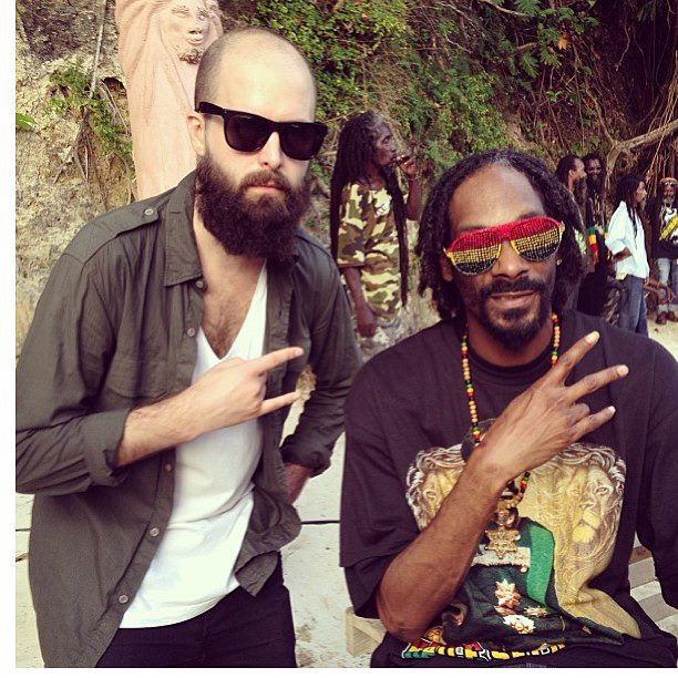 Popcaan And Snoop Lion Dine And Smoke Together In Jamaica