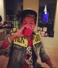 Wiz Khalifa drinking
