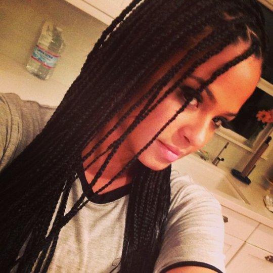 christina milian braid hairstyle