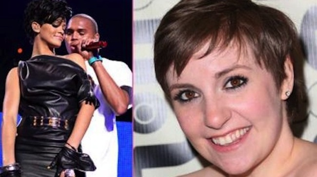 "Lena Dunham Criticized Rihanna & Chris Brown ""It Crack My Heart"""
