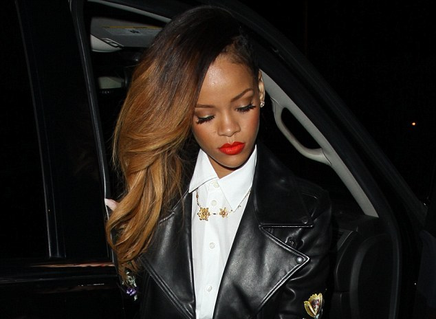 Photo rihanna cover up in button down blouse pencil for Wiz khalifa button down shirt